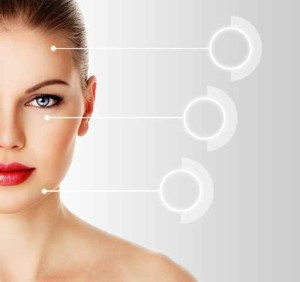 Woman face ready for syringe or cosmetic injection